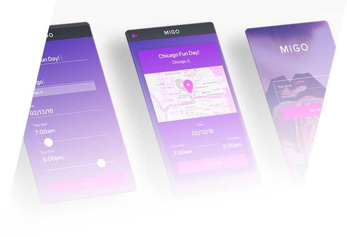 App Screen Design Samples