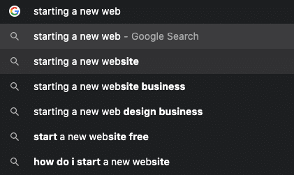 Finding keywords for your new website